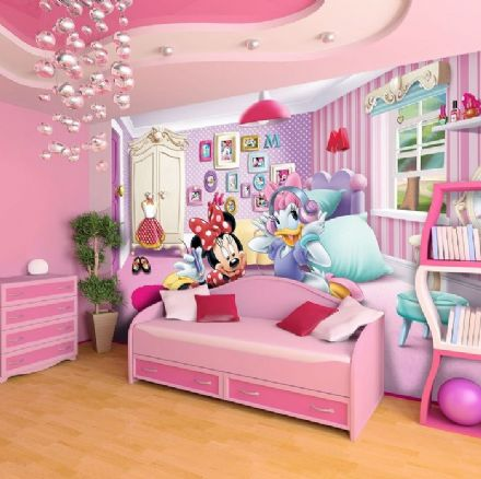 XL Minnie Mouse and Daisy wall mural